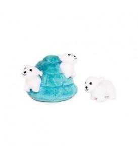 ZippyPaws Burrow - Lední medvědi v iglů
