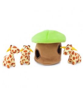 ZippyPaws Burrow - Žirafy v chatce
